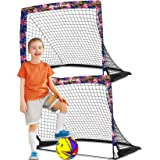 Dimples Excel Soccer Goals Kids Soccer Net for Backyard 4'x3', 2 Set