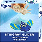 Aqua Stingray Underwater Glider, Swimming Pool Toy, Self-Propelled, Adjustable Fins, Travels up to 60 Feet, Dive and Retrieve