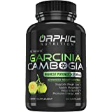 100% Pure Garcinia Cambogia Extract 95% HCA - 2100mg Appetite Suppressant - Carb Blocker Capsules - Orphic Nutrition - 90 Cap
