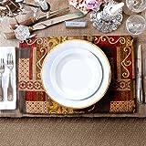 Artbisons Place Mats Sets of 6 Handmade 40x30cm Illusion Golden Table Mats