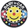 Sassy ベビーインカーステッカー スマイリーフェイス 【車用】NZSA100701