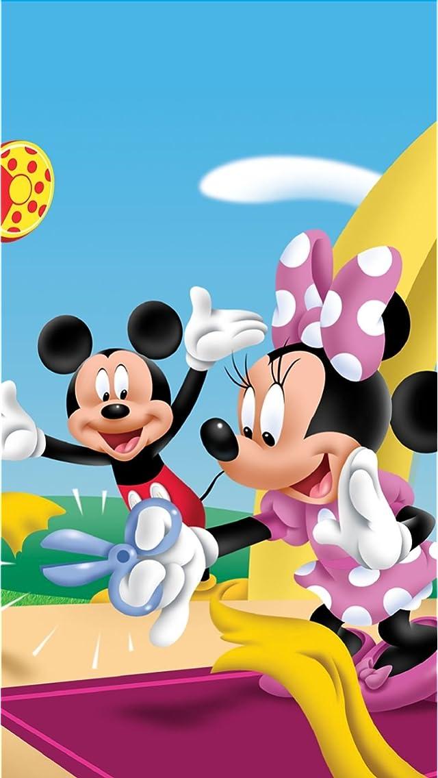 ディズニー テープカットするミニーと喜ぶミッキー iPhoneSE/5s/5c/5(640×1136)壁紙 画像29074 スマポ