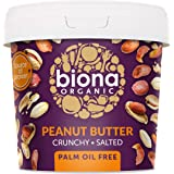 Biona Organic Peanut Butter Crunchy with Sea Salt, 1.0 g