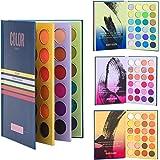72 Color Book Eyeshadow Palette, Earth Color Matte Pearlescent Eye Makeup Super Pigment Eyeshadow Powder Long-Lasting Waterpr