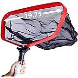 """Pool Skimmer Net Pool Leaf Rake with Durable 19"""" Fine Mesh Deep Bag, 19.7"""" Wide Inner Aluminum Frame, Pond Skimmer Net Cleani"""