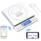 reflex 3000g / 0.1g Digital Pocket Bluetooth smart food kitchen Scale grams and ounces USB rechargeable, portable, accurate,