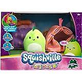"Squishville by Squishmallows Mini Plush Room Accessory Set, Camping, 2"" Soft Mini-Squishmallow and 2 Plush Accessories, Marsh"