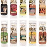 Yankee Candle Assorted Paper Car Jar Air Fresheners (10 Pack)