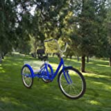 Adult Tricycles Bikes Bicycles Cruise Trike 7 Speed Adult Trikes 24 inch 3 Wheel