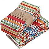 RUVANTI Cloth Napkins 12 Pack 20X20 Inch Dinner Table Napkins,Soft & Comfortable 100% Cotton Napkins.Red & Orange Reusable Li