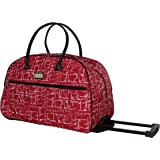 Nicole Miller Wheeled Duffel Carry On Bag (14in, Signature)