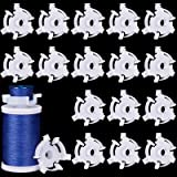 Bobbin Holders Sewing Bobbin Small Clips Sewing Tool Accessory Clear Thread Clips Holder Tool (50 Pieces)