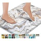 Britimes Bath Mats for Bathroom, Bathroom Mats Rugs No Silp, Marble Texture Washable Cover Floor Rug Carpets Floor Mat Bathro