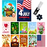 Yileqi Seasonal Garden Flags Set of 12 Double Sided 12.5x18 Inch Valentine's Day Spring Garden Flag for Outdoor Decoration Ho