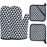 Oven Mitts 2pcs Pot Holders Heat Resistant up to 482F/250°C Non-Slip Silicone Mesh Mitts Food Grade Kitchen Mitten Cooking Gl