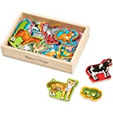 Melissa & Doug 475 - 20 Wooden Animal Magnets in a Box