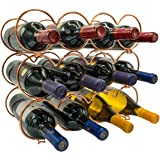 Sorbus 3-Tier Stackable Wine Rack - Round Classic Style Wine Racks for Bottles - Perfect for Bar, Wine Cellar, Basement, Cabi