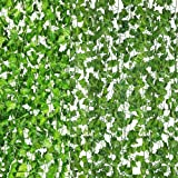 Homiest Artificial Ivy, 12 Strands 84 Ft Simulation Leaf Vine Artificial Evergreen Rattan Green Leaf Greenery Garland Party W
