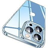 CASEKOO iPhone 13 Pro Max 用 ケース クリア 耐衝撃 米軍規格 SGS認証 ストラップホール付き 6.7インチ カバー ワイヤレス充電対応 アイフォン 13 Pro Max 用 ケース(クリア)