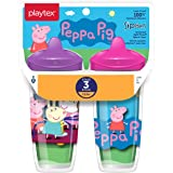 Playtex Sipsters Stage 3 Peppa Pig Spill-Proof, Leak-Proof, Break-Proof Insulated Toddler Spout Cups For Girls - 9 Ounce - 2