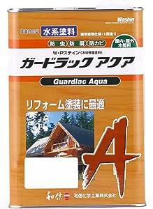 和信ペイント ガードラックアクア プロ仕様の水性屋外木部用塗料 1回塗・高着色・塗替最適 チーク 3.5kg