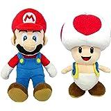 マリオ&キノピオ(S) ぬいぐるみ 2種セット【座高約18cm】 スーパーマリオ ALL STAR COLLECTION