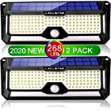 Solar Lights Outdoor Motion Sensor - New Upgrade 268 LEDs Solar Security Light IP65 Waterproof Led Outdoor Lights Super Brigh