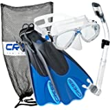 Cressi Palau Mask Fin シュノーケルセット with Snorkeling Gear Bag