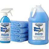 Wet or Waterless Car Wash Wax Kit 144 Ounces. Aircraft Quality for Your Car, RV, Boat, Motorcycle. The Best Wash Wax. Anywher