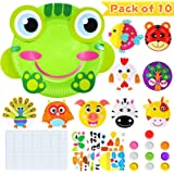 Here Fashion Toddler Crafts Paper Plate Art Kit Arts and Crafts for Kids Boys Girls Preschool Easy Animal Plate Craft DIY Pro