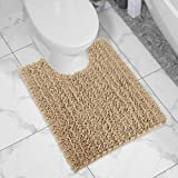 Yimobra Bath Contour Mat Chenille Toilet Mat U-Shaped Rugs for Bathroom Maximum Absorbent,Soft and Cozy,Dry Quickly,Non-Slip,