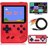 Handheld Game Console for Kids Adults, Retro Mini Game Player with 800 Classic FC Games 3.0 inch Color Screen 1020mAh Recharg