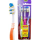 Colgate ZigZag Deep Interdental Clean Toothbrush Medium Value, 3 Pack