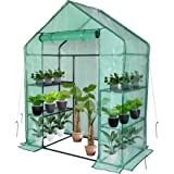 Greenhouse,Outdoor Greenhouse,Portable Greenhouse with Anchors and Roll-up Zipper Door,Grow Plants Seedlings Herbs or Flowers