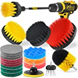 Holikme 14Piece Drill Brush Attachments Set, Scrub Pads & Sponge, Power Scrubber Brush with Extend Long Attachment All purpos