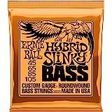 Ernie Ball P02833 Hybrid Slinky Nickel Wound Electric Bass Strings, 45-105 Gauge, Medium