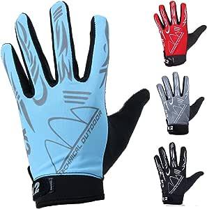 monoii(モノイー) 収縮素材でフィットする トレッキンググローブ 通気性 春夏用 カラーとサイズ選択/スマホ対応 クライミング 手袋