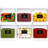 Airtight Food Storage Containers, Vtopmart 6 Pieces Mini BPA Free Plastic Containers with Easy Lock Lids, for Kitchen Pantry