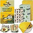 HUNNYBEE Reusable Beeswax Food Wrap (7 Packs), Zero Waste, Beeswax Wrap, Eco Friendly, Organic, Bees Wax Food Storage Wrapper