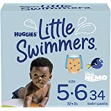 Huggies Little Swimmers Disposable Swim Diapers, Swimpants, Size 5-6 Large (Over 32 lb.), 34 Ct. (Packaging May Vary)