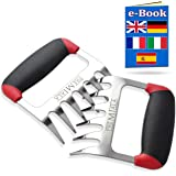 Premiala Meat Claws - Incredible 3-in-1 Meat Shredder Claws Stainless Steel! Bear Paws with Soft Rubber Handles for Ultra Com