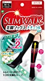 スリムウォーク (SLIM WALK) 美脚ソックスナチュラルfeel MLサイズ ソックス おそと用 着圧 ブラック