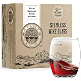 Cruvina Unbreakable Wine Glasses - Shatterproof Stemless Tritan Plastic Cups - Ideal For Indoor And Outdoor Use - Elegant And