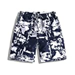 Elonglin Men's Summer Beach Board Shorts Printed Quick Dry Swim Trunks