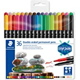 STAEDTLER Fabric Permanent Marker 36-Piece Set, assorted, pack of 36 (3187 TB36 ST)