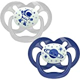 Dr. Brown's Advantage Baby Pacifiers, Glow-in-The-Dark, 6 -18 Month Pacifiers, Blue, 2 Count (Pack of 1)