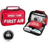 First Aid Kit - 96 Piece Compact Lightweight Portable Safety Trauma Bag Emergency Survival Kit Gear Home and Provide Immediat