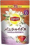 【Amazon.co.jp限定】 リプトン バニラルイボス 75杯分 デカフェ・ノンカフェイン ティーバッグ