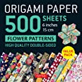 """Origami Paper 500 sheets Flower Patterns 6"""" (15 cm): Tuttle Origami Paper: High-Quality Double-Sided Origami Sheets Printed w"""