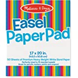 Melissa & Doug 4102 Art Essentials Easel Pad (17 x 20 inches) with 50 Sheets of White Bond Paper
